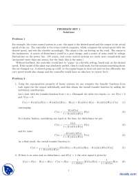 Superposition Property of Linear Systems-Control Systems And Design-Assignment Solution