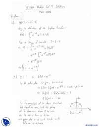 Laplace Transforms-Control Systems And Design-Assignment Solution