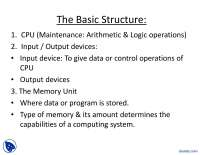 The Basic Structure-Computer Aided Design-Lecture Slides