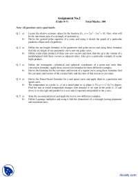 Parametric And Polar Curves-Mathematics For Computing-Assignment