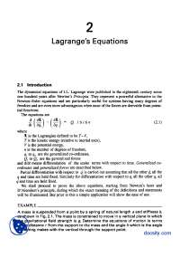 Lagrange's Equation II-Advanced Engineering Dynamics-Lecture Handout