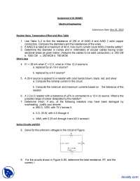 Ohm's Law, KCL and KVL-Basic Electronics-Assignment