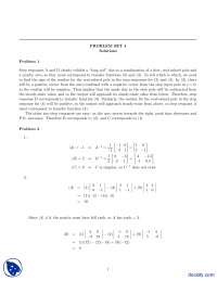 State Equations And Matrices-Principles of Automation Control-Assignment Solution