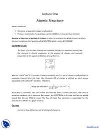 Atomic Structure-Fundementals of Electronics-Lecture Slides