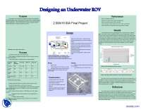 Underwater ROV-Fundamentals of Design-Project Overview