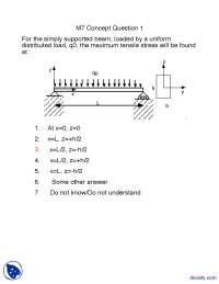Concept Question Part 8-Structure of Materials-Lecture Handout
