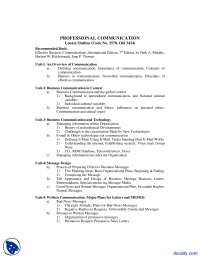 Course Outline 2-Professional Communication-Handout