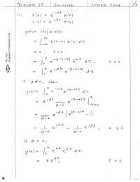 Convolution Part 1-Signal and System Theory-Assignment Solution