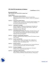 Course Outline-Introduction to E Business-Handout