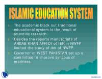 Islamic Education System 1-Pakistan Studies-Lecture Slides
