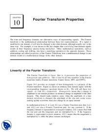 Fourier Transform Properties-Signal Processing And Analysis-Handout