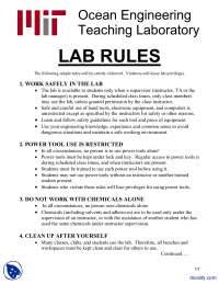 Lab Rules-Fundamentals of Design-Lab Handout