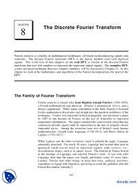 The Discrete Fourier Transform-Signal Processing And Analysis-Handout