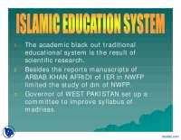 Islamic Education System 2-Pakistan Studies-Lecture Slides