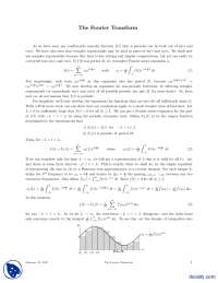 The Fourier Transform-Signal Processing And Analysis-Handout