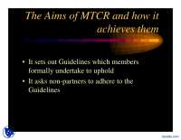The Aims of MTCR-Ballistic Missile-Presentation