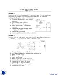Three Phase Rectifier-Power Electronics-Assignment