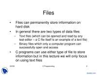 Files-Programming-Lecture Slides