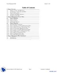 Project Management Plan Example-Project Management In Engineering-Handout