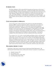 Cost Management Plan Example-Engineering Project Management-Handout