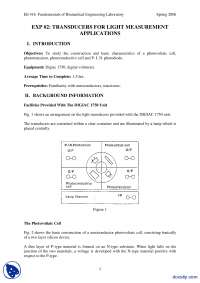 Transducers Part 2-Mesaurement and Instrumentation-Lab Mannual