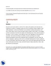 Communism-Engineering Economy-Assignment
