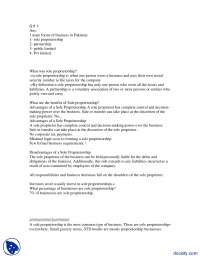 Partnership And Sole Proprietorship-Engineering Economy-Assignment