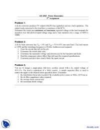 DC Choppers, Buck Converter-Power Electronics-Assignment
