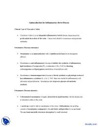 Aminosalicylate For Inflammatory Bowel Disease-Pathophysiology-Assignment Solution
