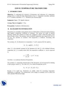 Temperature Transducers-Mesaurement and Instrumentation-Lab Mannual
