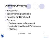 Benchmarking-Performance Measures And Quality Maintenance-Lecture Slides