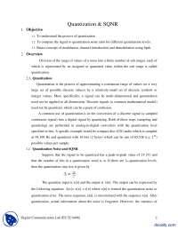Quantization and SQNR-Digital Communications-Lab Handout