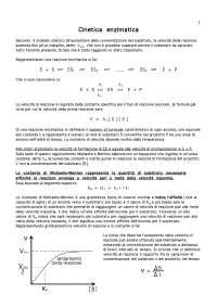 Appunti di Biochimica - Cinetica enzimatica