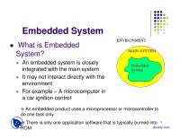 Embedded System-Embedded System Control-Lecture Slides