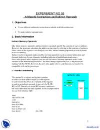 Arithmetic Instructions and Indirect Operands-Assembly Language Programming-Lab Manual