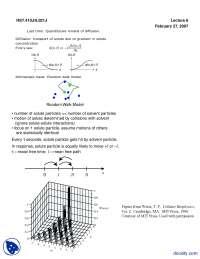 Random Walk Model-Micro Cellular Engineering-Lecture Handout