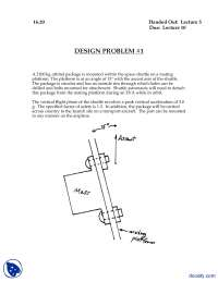 Orbital Pakage Design Problem-Material and Structures-Assignment