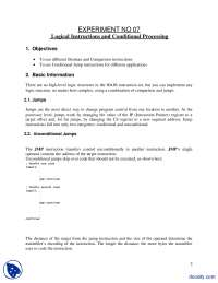 Logical Instructions and Conditional Processing-Assembly Language Programming-Lab Manual