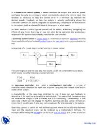 Closed Loop Motor System-Electric Machines-Lecture Handout