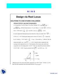 Design via Root Locus-Control Systems-Lecture Handout