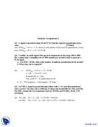 Data Rate and Quantization Levels of Audio Signal-Wireless Networking, LAN and Computer Networks-Quiz Solution