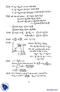 Field and Wave Electromagnetic 2E Chapter 3-Elecctromegnatic Theory-Solution Mannual