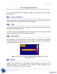 Thermographic Analysis-Electric Machines-Induction Motor Report