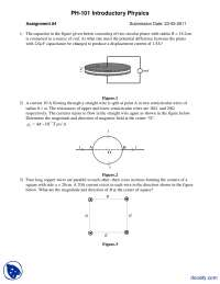 Circular Disc Problems-Applied Physics-Assignment
