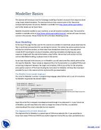 Modeller-Bioinformatics-lecture Handout