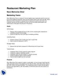 Restaurant Marketing Plan-Business Administration-Lecture Handout