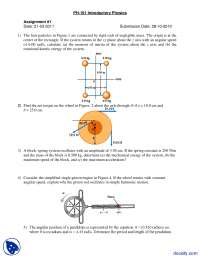 Spring Problems-Applied Physics-Assignment