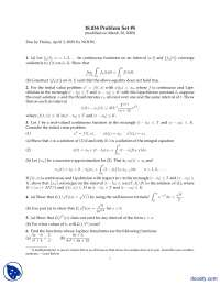 Continuous Functions-Differential Equations-Assignemnt and Solution
