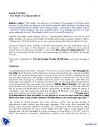 The Myth of Independence-Pak Studies-Lecture Handout