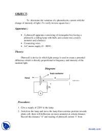 Photo Cell.-Physics-Lab Report